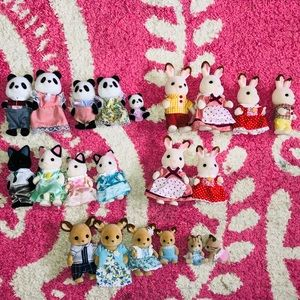 Calico Critters Lot of families